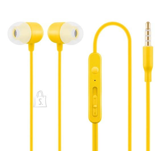 ACME Nööpkõrvaklapid mikrofoniga HE21, kollane