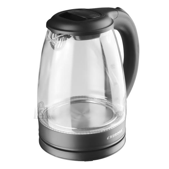 Aurora Veekeetja klaaskannuga 1,8L, 1750W, must