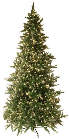 Star Kuusk Vancouver, Ø130x225cm, 550 LED tulega, hingedega oksad, 954 PVC tippu, 230V-24V DC, IP44