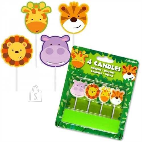 Amscan Loomad mini küünlad 4tk/pk