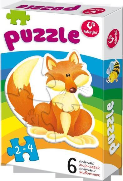 Kukuryku Puzzle loomapiltidega, 6 erinevat pilti