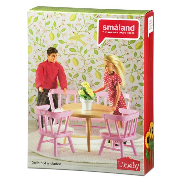 Micki nukumaja Småland roosa köögimööbel