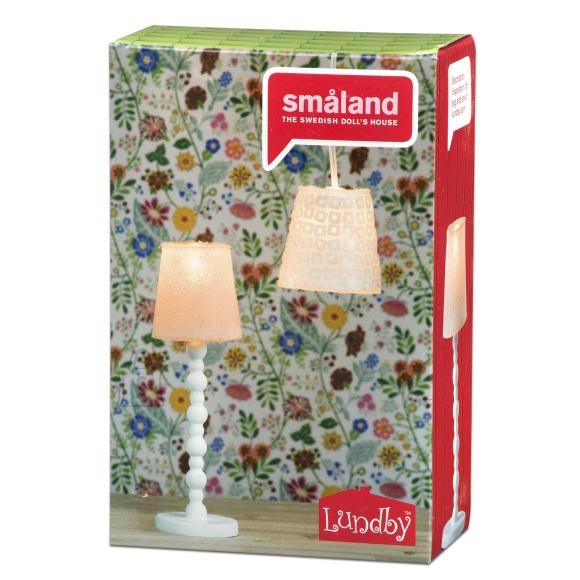 Micki Nukumaja Småland roosa põrandalamp + laelamp