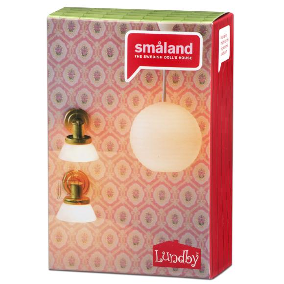 Micki nukumaja Småland riisilamp + seinalambid