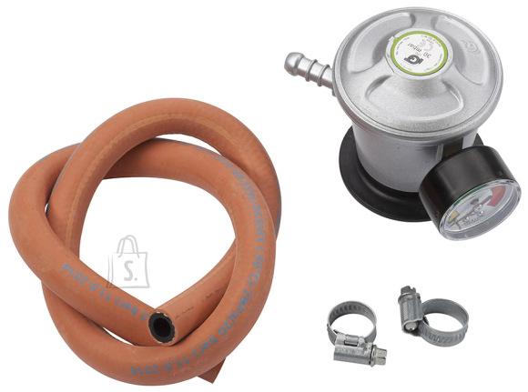 Landmann Gaasireduktor manomeetri ja voolikuga, kiirkinnitus, gaasi näidik 30mbar 2kg/h