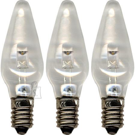 Star Pirn LED universal 3tk, 10-55V, E10, läbipaistev 20/400