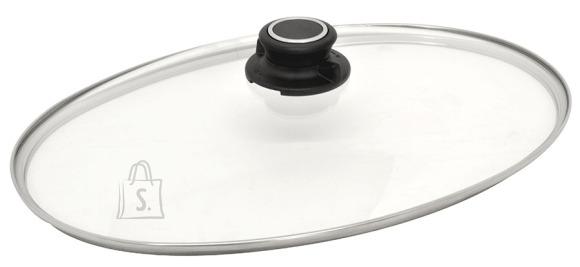 Worlds Best Pan Ovaalne klaaskaas metallääre- ja ventileeriva nupuga 35x24cm