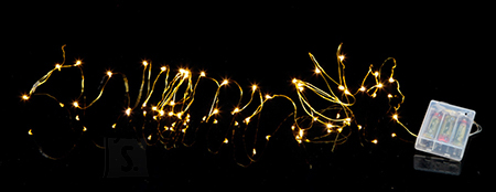 Star Valguskett String 40 LED, vaskne, 3,9m, tulede vahe 10cm, taimer (6+18h tsükkel), patareitoide (3xAA, mitte kaasas), IP20 12/96