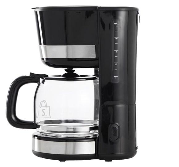 Day Kohvimasin Day 1000W 1,5L, must/metallik