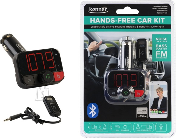 Kenner FM-transmitter Bluetooth, Hands-Free kit, USB