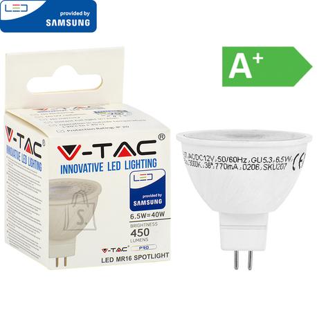 V-Tac LED lamp 12V MR16/GU5.3/6,5W/450lm/110°