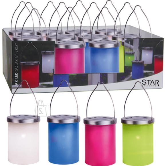 Star Värviline latern, 1 LED 12x22,5cm, päikesepaneeliga, IP44, riputatav