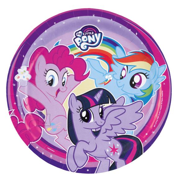 Amscan My Little Pony Rainbow Taldrikud 23cm 8tk/pk