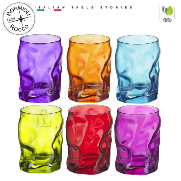 Bormioli Sorgente klaas 30cl CT6 värvimix