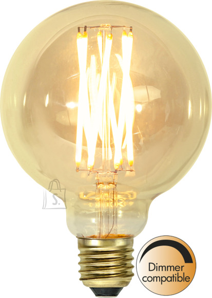Star LED lamp E27 G80 filament 240lm, vintage gold