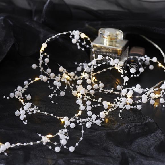Star Valguskett Kastepisara Pärlid 1,9m, 20LED valge, patareitoide, IP20
