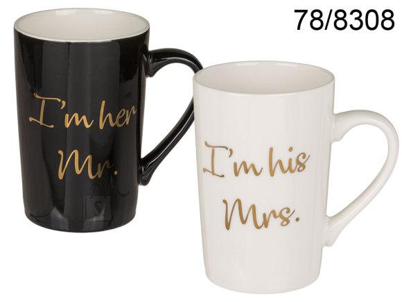 OOTB Kruus I'm his Mrs & I'm her Mr, ca 12 x 8 cm