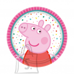 Amscan Peppa Pig Taldrikud 18cm 8tk/pk