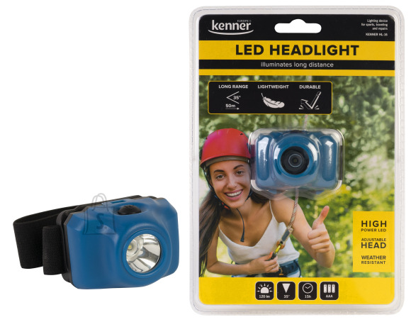 Kenner LED pealamp 3XAAA, 3W, 120lm