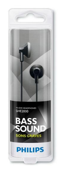 Philips Philips SHE2000 nööpkõrvaklapid, mustad