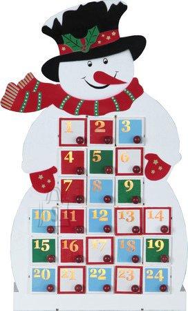 Star Advendi kalender, Lumememm, 14 Led, patareit