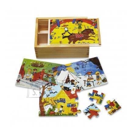 Micki Pipi puzzle puidust 4x12