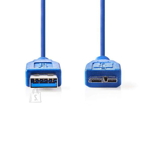 Nedis Kaabel USB 3.0 otsik - micro USB B otsik, 0,5m, sinine
