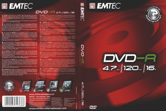 Emtec EMTEC DVD-R 4,7GB/16x DVD-karp EOL