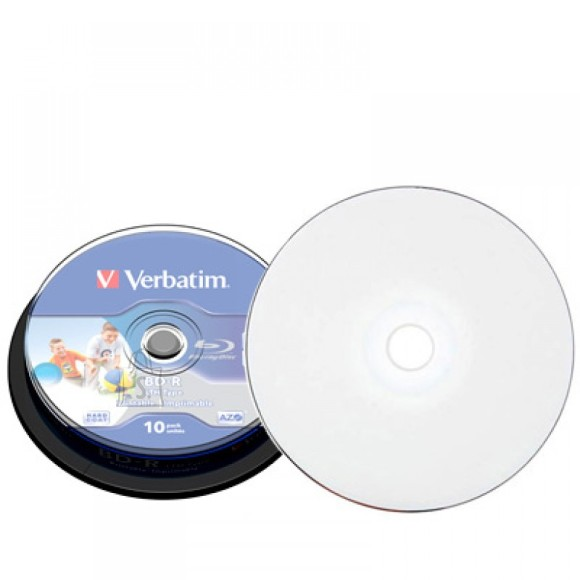 Verbatim Verbatim BD-R 25GB/6X 10 torn, prinditav TELL