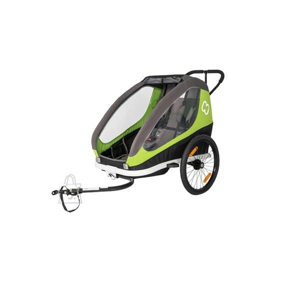 Hamax Hamax jalgratta järelkäru ja lapsevanker TRAVELLER, 2 istet, hall/roheline