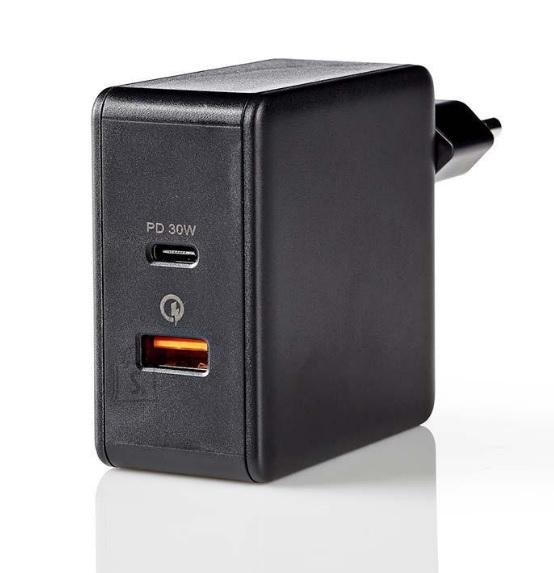 Nedis Toalaadija Nedis USB-C + USB-A, 2x 3A