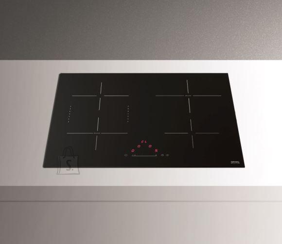 """Falmec pliidiplaat 4x induktsioon, 59 cm, must, lõigatud serv, sisse-ehitatud õhupuhastaja juhtpuldiga, """"keep warm"""" 70°C, 7,4kW"""