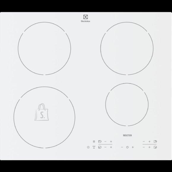 Electrolux pliidiplaat , 4x ring induktsioon, 60cm, valge, lõigatud servad