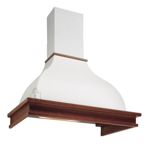 Falmec Seina õhupuhastaja IRIS MALIZIA 120cm, 600m3/h, halogeen 2x18W, raam peitsitud pähkli tooni, valge