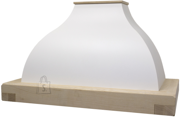 Falmec Seina õhupuhastaja IRIS GARDENIA 90cm, 600m3/h, halogeen 2x18W, raam viimistlemata, valge