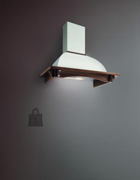 Falmec Seina õhupuhastaja RONDO DALIA 90cm, 600m3/h, halogeen 2x18W, raam peitsitud pähkli tooni, valge