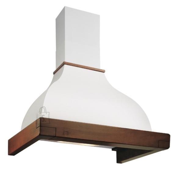 Falmec Seina õhupuhastaja IRIS GARDENIA 120cm, 600m3/h, halogeen 2x18W, raam peitsitud pähkli tooni, valge