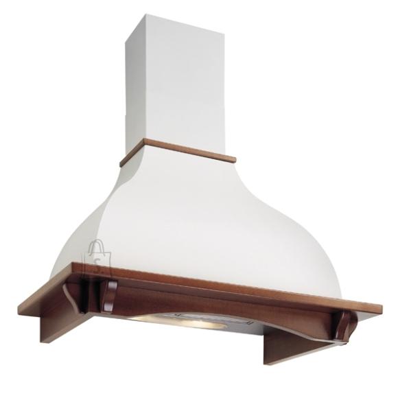 Falmec Seina õhupuhastaja IRIS TULIP 120cm, 600m3/h, halogeen 2x18W, raam peitsitud pähkli tooni, valge