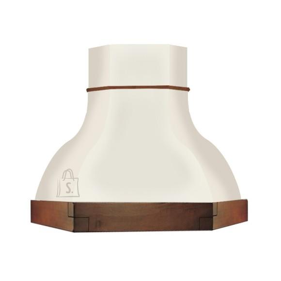 Falmec Nurga õhupuhastaja IRIS GARDENIA 100cm, 600m3/h, halogeen 2x18W, raam peitsitud pähkli tooni, valge