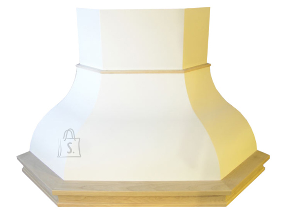 Falmec Nurga õhupuhastaja IRIS TULIP, 100cm, 600m3/h, halogeen 2x18W, raam viimistlemata, valge
