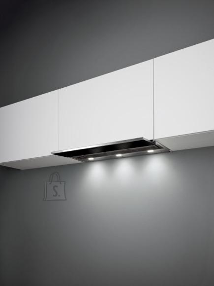 Falmec Integreeritav õhupuhastaja MOVE 120cm, 800 m3/h, LED 3x1,2W (3200K), rv teras AISI304/must klaas