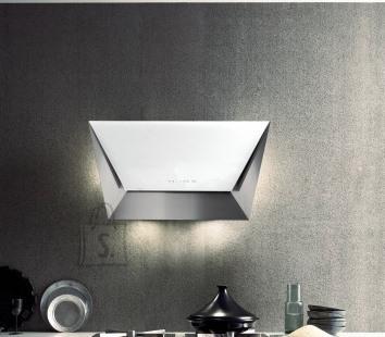 Falmec Seina õhupuhastaja PRISMA 85cm, 800m3/h, LED 2x1,2W (3200K), rv teras AISI304/valge klaas