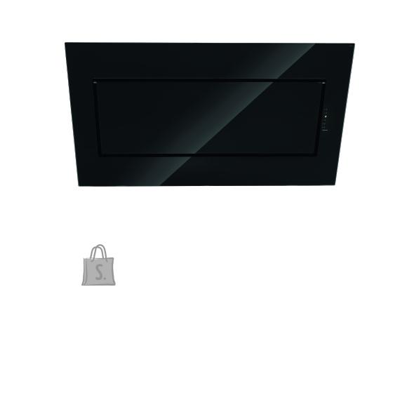 Falmec Seina õhupuhastaja QUASAR 120cm, 800m3/h, LED 3x1,2W (3200K), must klaas