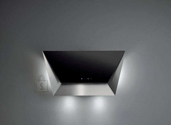 Falmec Seina õhupuhastaja PRISMA 115cm, 800m3/h, LED 2x1,2W (3200K), rv teras AISI304/must klaas