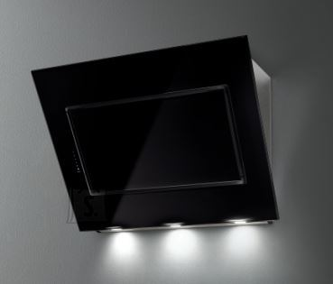 Falmec Seina õhupuhastaja QUASAR 90cm A+, 800m3/h, LED 3x1,2W (3200K), must klaas