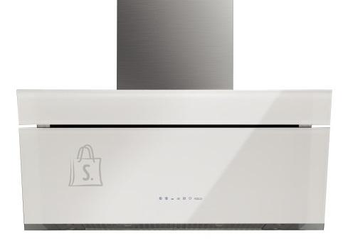 Falmec Seina õhupuhastaja BUTTERFLY 90cm, 800m3/h, LED 4x1,2W (3200K), rv teras AISI304/valge