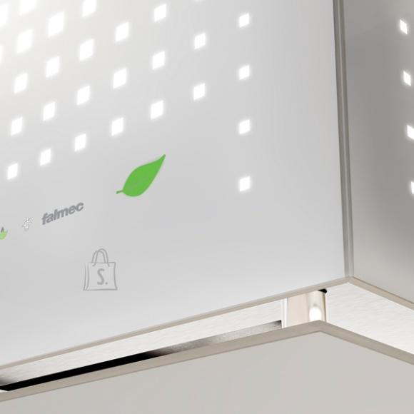 Falmec Seina õhupuhastaja RUBIK E-ION 42cm, 450 m3/h, LED 4Xx1,2W (3200K), valge klaas