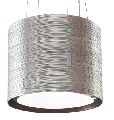 Falmec Saare (rippuv) õhupuhastaja TWISTER E-ION 45cm, 450 m3/h, LED 4x1,2W (3200K), titanium