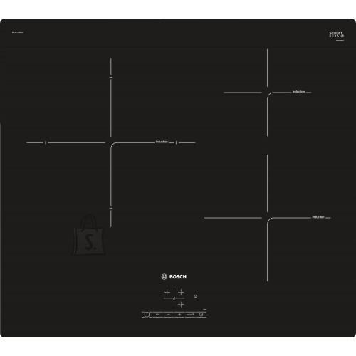 Bosch Pliidiplaat Bosch, 3 x induktsioon, 60 cm, must, lõigatud serv