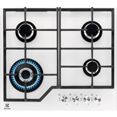 Electrolux Pliidiplaat Electrolux, 4 x gaas, 60 cm, klaas, valge